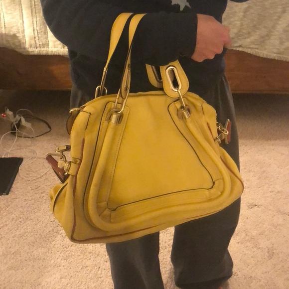 010c46022e5b Chloe Handbags - Chloe Medium Paraty in Yellow with Military Strap